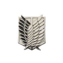 custom wing lapel pin wing badge cross fire badge for promotion