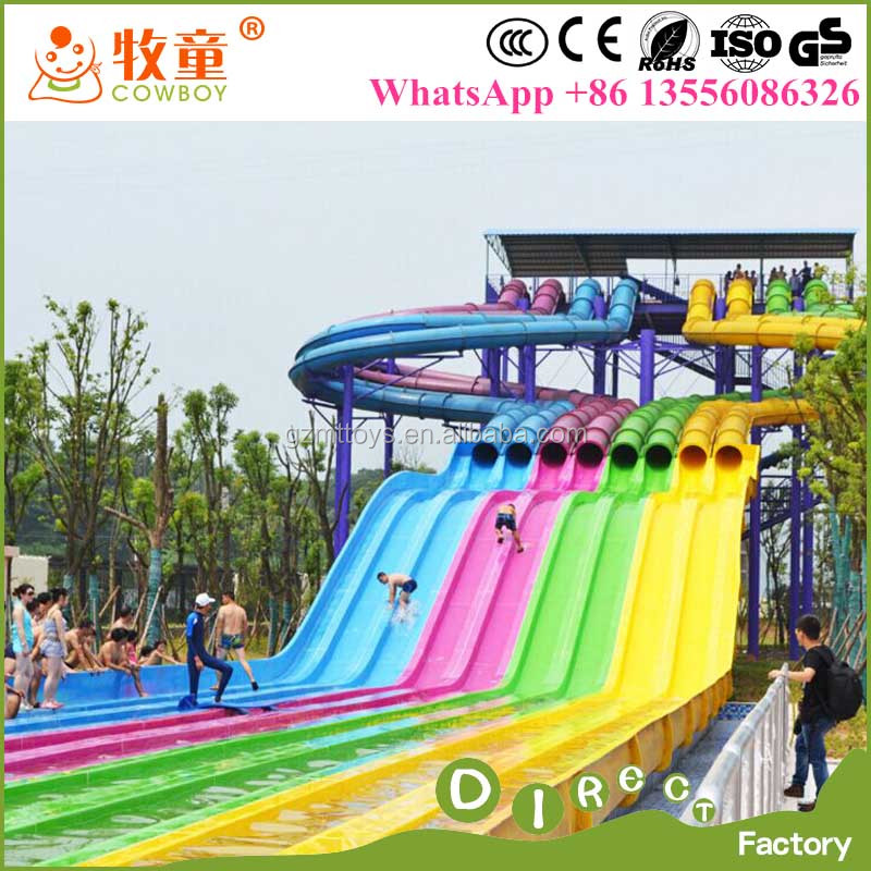 Professional 8 lines fiber glass high speed extreme water slide made in Guangzhou