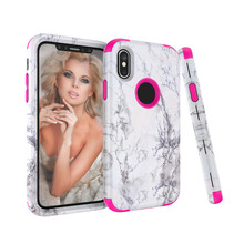 Marble Luxury 3 in 1 Shockproof Hybrid Armor Phone Case For iphone X 8 7 Plus PC+Silicone Back Cover