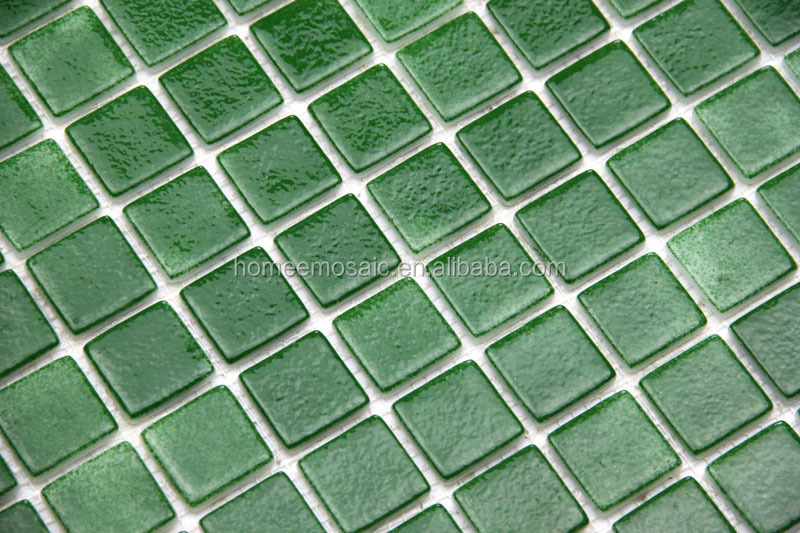 factory cheap price green glass mosaic tile/swimming pool tile