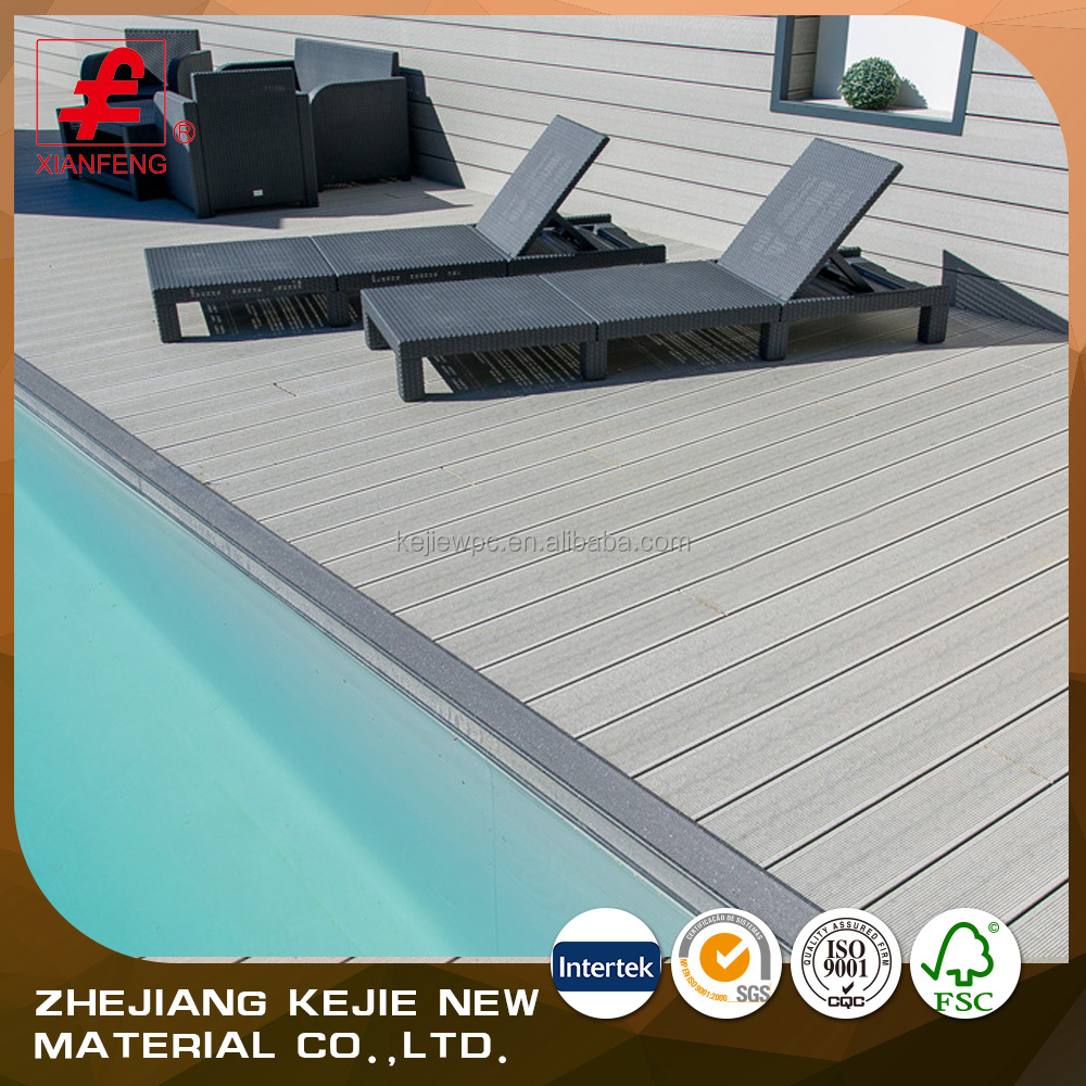 Wholesale Swimming pool wood plastic composite wpc decking floor
