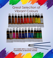 12ml acrylic paint set 24colors OEM logo acrylic paint for kids