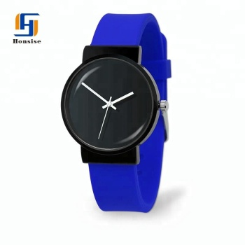 Custom Logo Brand 100% Design Personalized Sports Round Mens Silicone Quartz Watches