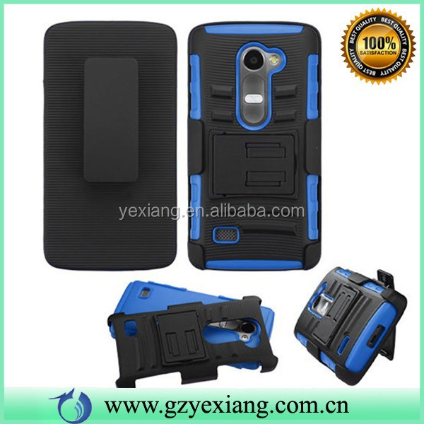 PC TPU Hybrid Robot Combo Case For LG Leon C40 With Holster Clip