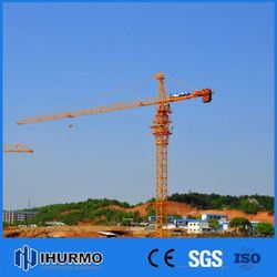 Low Cost lift material machine wireless remote tower crane with robot chassis