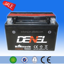 maintenance free dry charged battery 12v 9ah ATV battery(YTX9-BS)