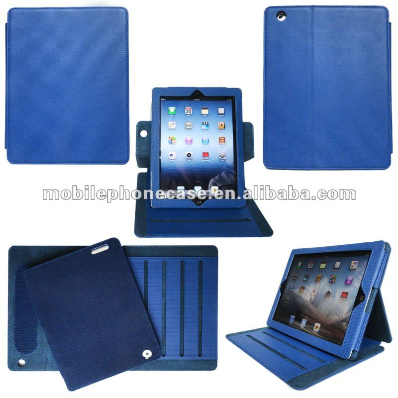 Custom Shockproof Leather Removable Cover Flip Tablet Stand Case For iPad 2/3/4