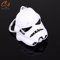 Hot movie Keychain Alloy stormtrooper Mask Metal can Dropshipping Key Rings For Women&Men Chaveiro 2 colors