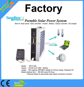 portable solar lighting power 220VAC with working time 20 -60 hours