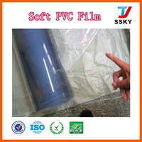 Super clear transparent plastic soft pvc film sheet for packaging