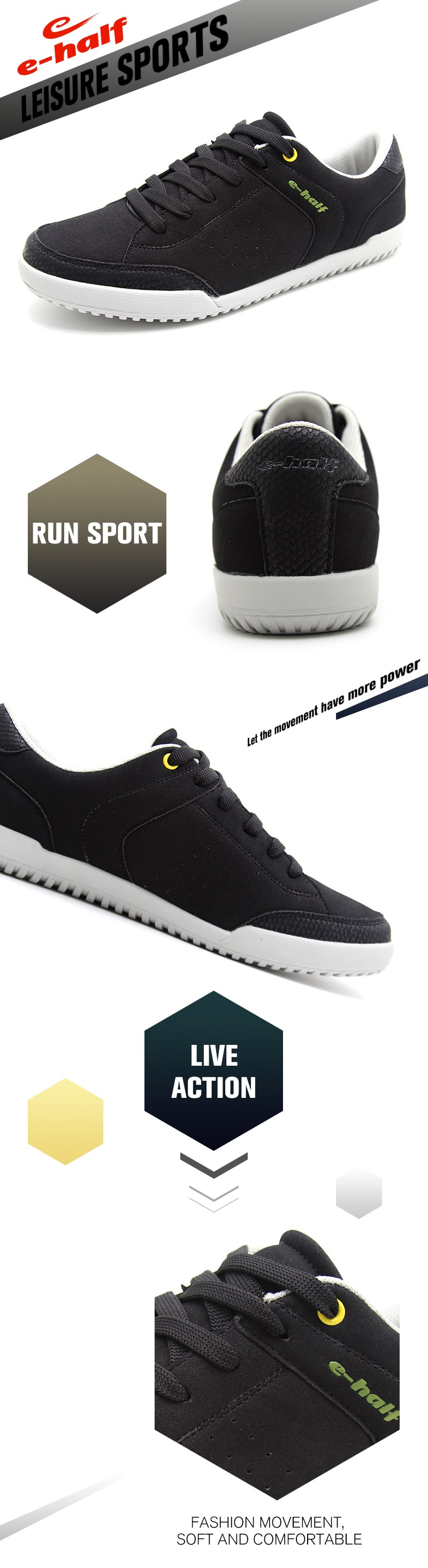 2017 china factory soft sole durable black casual dress shoes men sneakers
