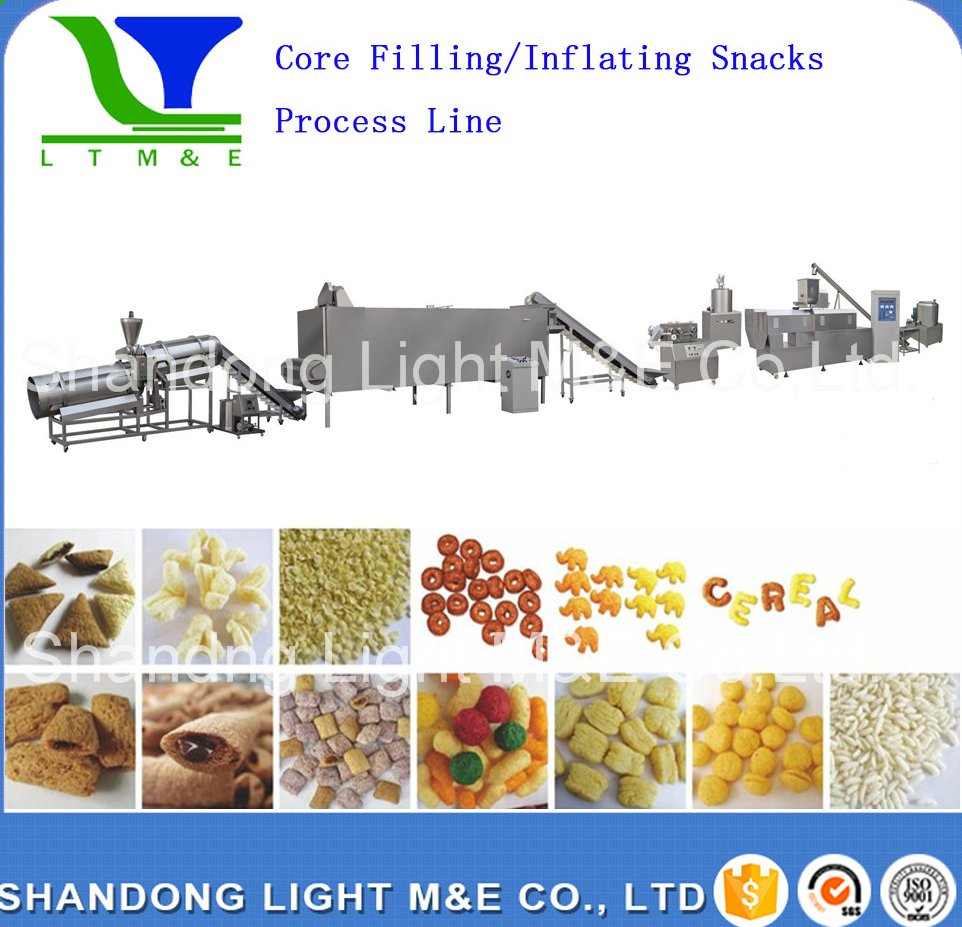 Twin Screw Extruder Snacks Machine/Industrial Snack Extruder Machine
