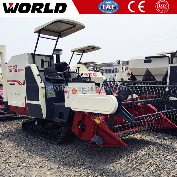 New Crawler Rice Combine Mini Harvester for Harvesting Rice, Wheat
