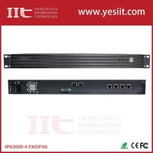 4E1 4 Port E1 /T1/J1 IP PBX Support Voice mail,IVR,Conference,Call groups,Batch add user extensions