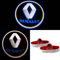 Fashion waterproof dustproof 12V 4d led car logo led ghost shadow car logo light for Renault Megane