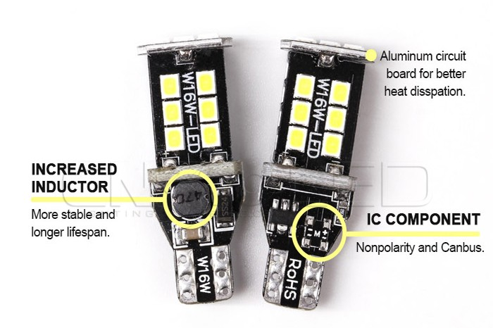 Fast delivery canbus reserve light SMD2835 T15 12v led 921 w16w