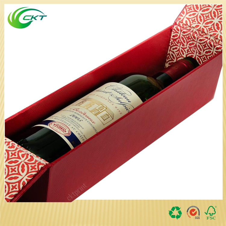 glass packaging printed hinged cardboard gift boxes for wine bottles