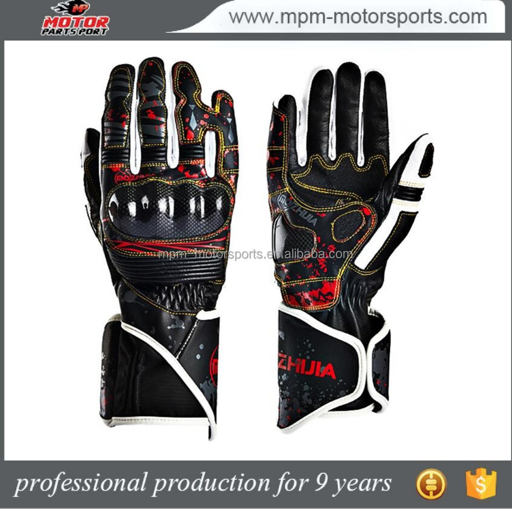 Leather racing hand protection motorcycle driving gloves fir motocross