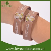 Custom colorful silicone bracelet/give away items silicone wristband