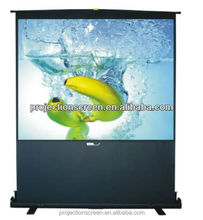 Floor stand pull up projection screen