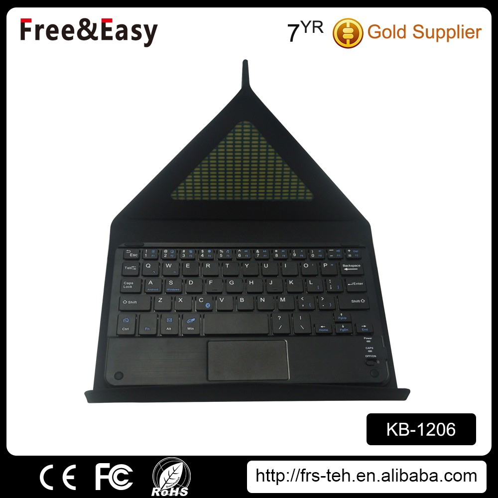 59keys bluetooth wireless keyboard with foldable leather case