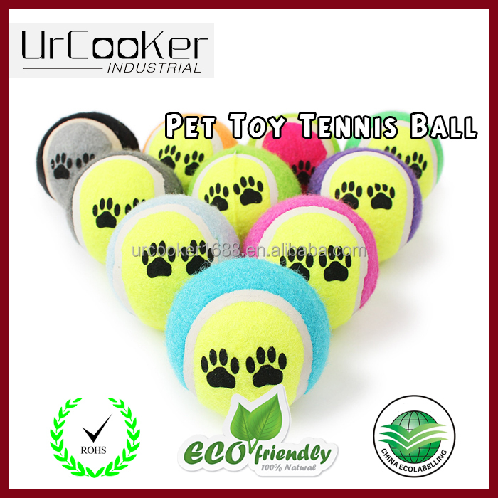 Lovely durable pet chew toy dog training tennis ball