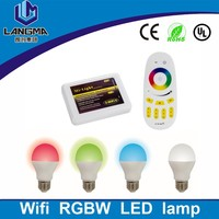 Langma E27/B22 6w Home Wifi RGB Bulb App&Android Full Touch Screen Wireless Remote rgb bulb