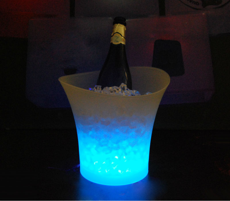 large ice bucket plastic party tubs with light