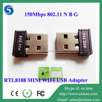 WIFI 150MBPS WIRELESS ADAPTOR 802.11 B G N NETWORK LAN MINI USB ADAPTER DONGLE