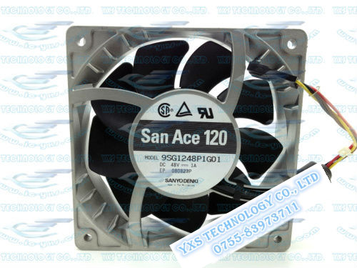 120*120*38mm high temperature resistance 12cm Big air fan 9SG1248P1G01 48V 1A 4wires aluminum frame