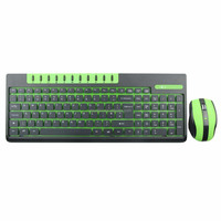 Colored cheap wireless keyboard with mouse combo KMW-001