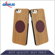 Handmade bamboo phone case wooden mobile cell phone cover case