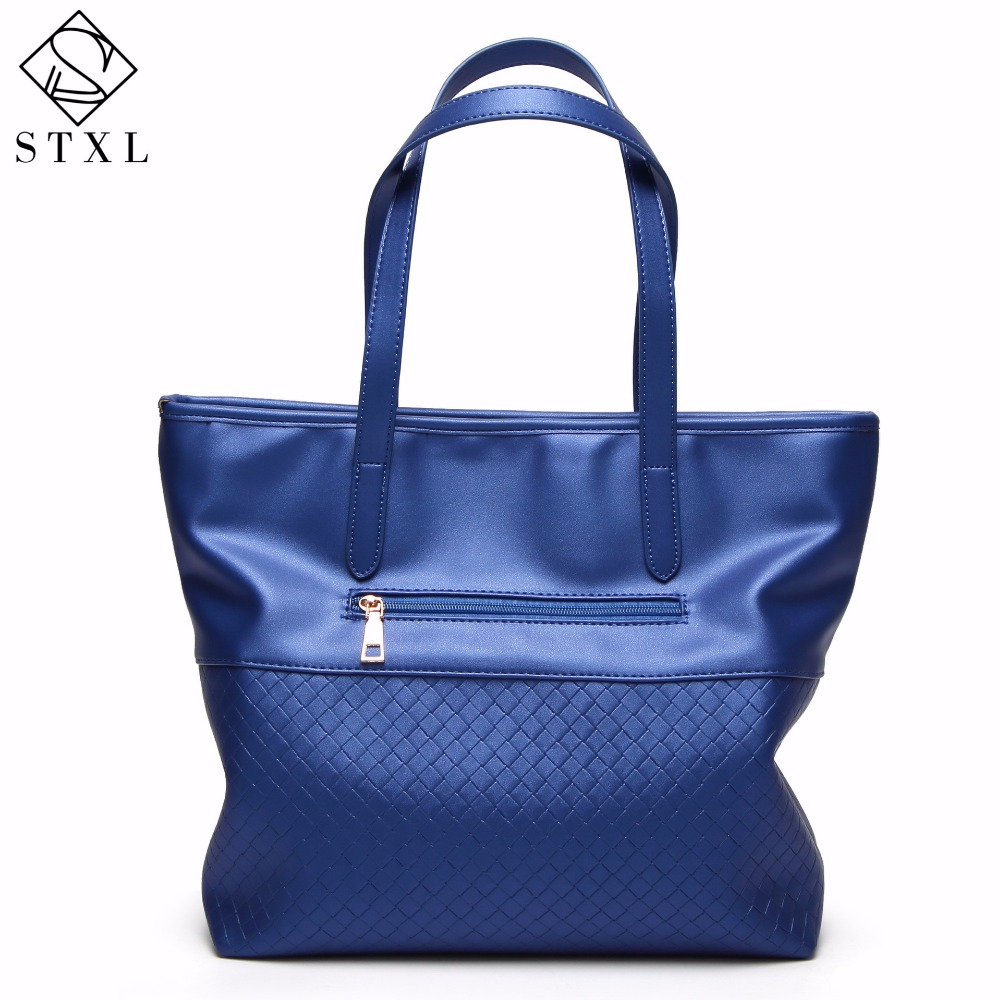 STXL 2017 summer new female package section woven pattern big bag fashion ladies wild shoulder bag