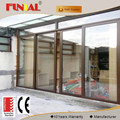 China top sale aluminum alloy low-e glazed sliding door