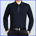 2016 newest design blank long sleeves collar cheap polo t-shirt men's
