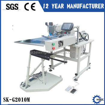 Full Automatic placket jean J stitch electronic industrial sewing machine
