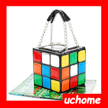 UCHOME Lady Girlish Magic Cube Bag/Tote/Handbag Women's Hot Cute Magic Cube Bag Purse Korean Fashion