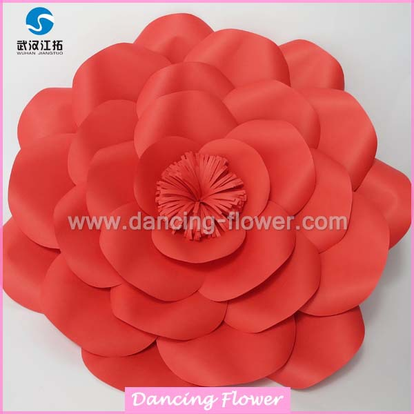 Red honour giant foam paper flower wall artificial flowers for celebration decoration