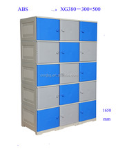 Chinese supplier new fresh abs plastic locker with internal board for sale