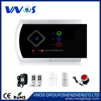 Wireless zones app control GSM alarm system with touch screen home alarm system PIR Motion Sensor