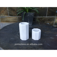 Wholesale white marble candle jars and stone candle holder