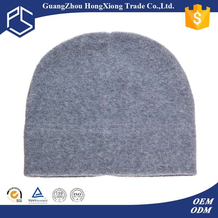 Promotion blank polar fleece beanie hat wholesale