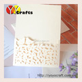 Deft design china wholesale wedding or birthday party favors laser cut invitation card type