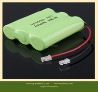 Rechargeable ni-mh battery pack aaa 600mah 3.6v for Solar lights