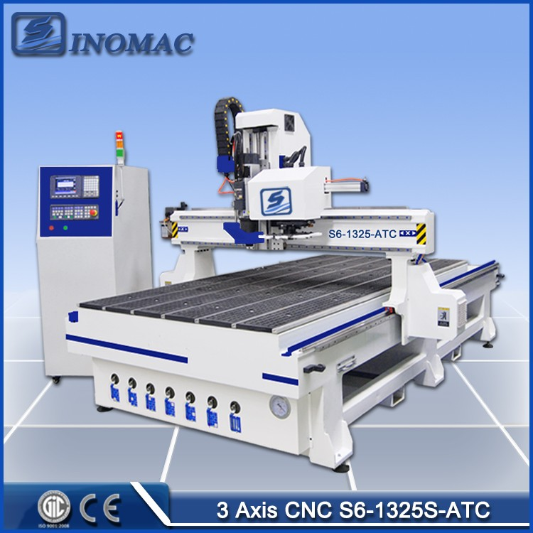 S6-A-1325-ATC Milling Machines CNC Wood/ Wood Design CNC Machine Price/ Woodworking Planer