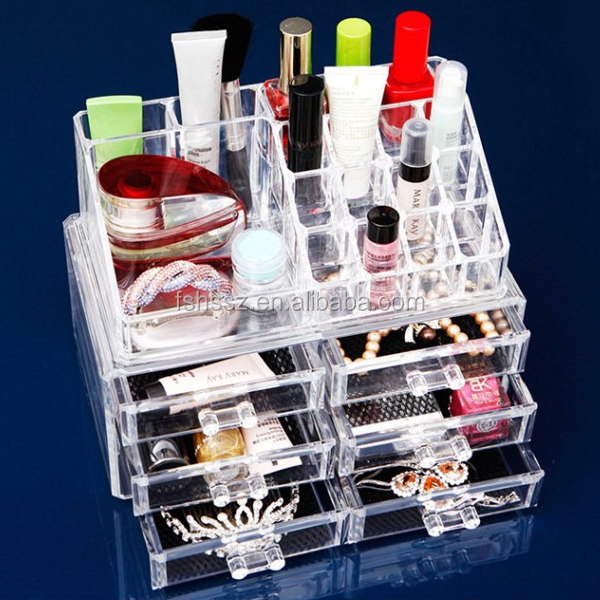 Makeup Acrylic Display Stand Cosmetic Nail Polish Display Case HS-AC02