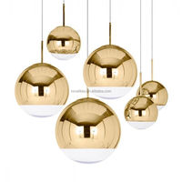 Modern Tom Dixon Mirror Ball Glass Pendant Lamps Designer Lamps