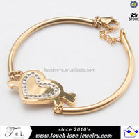 gold plated stainless steel bracelet slap bracelet