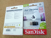 SanDisk OTG Ultra Dual USB 64GB Flash Drive