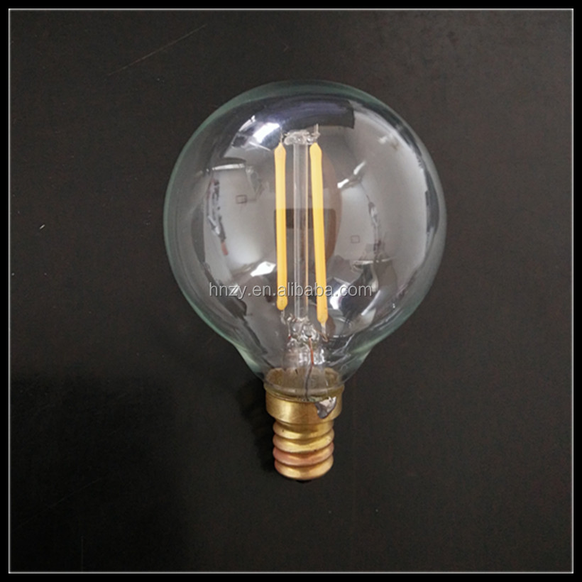 Global G50 E12/E14/E27/B15/B22 1W2W3W4W6W LED filament bulb 110-120V/220-240V dimmable